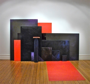 Painting stack, 2010, acrylic, oil, canvas and marmoleum